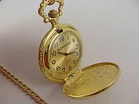 Часы карманные на цепочке 012980 Romano золотистые с золотым циферблатом