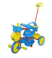 Велосипед детский трехколесный с ручкой WS814-1