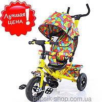 Велосипед трехколесный TILLY Trike T-351-1 ЖЕЛТЫЙ с надувными колесами