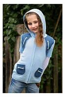 """Детский курточка вязанная с капюшоном, """" Silena """""""