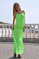 Летние трикотажные сарафаны в пол, разные цвета, р С-ХХЛ