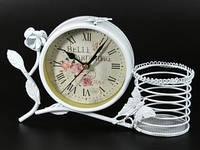 Часы настольные Ретро с подставкой для ручек