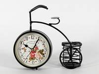 Часы настольные интерьерные Велосипед с корзинкой