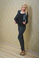 Костюм женский темно-серый, фото 1