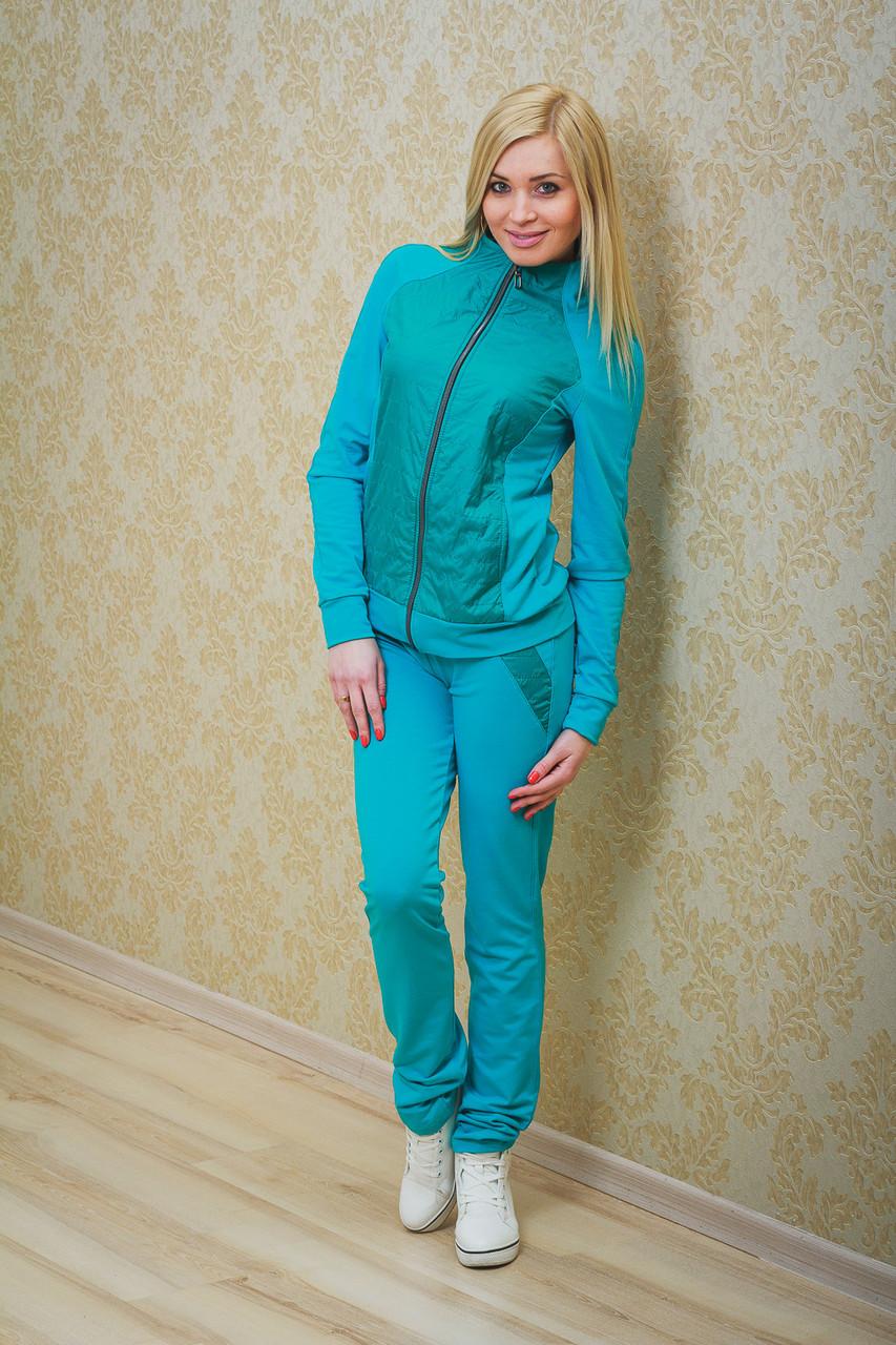 Женский голубой спортивный костюм с доставкой