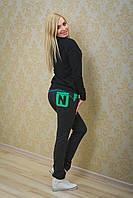 Спортивные штаны женские темно-серые, фото 1