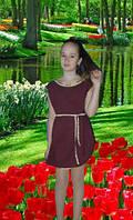 Туника - Платье,  на девочку бордо