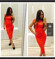 Платье до колена с коротким рукавом