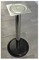 Опора для стола с круглым основанием Tempo 11.183.18.02 черное основание, хромированная опора