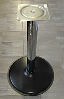 Опора для стола с круглым основанием Tempo 11.193.18.02 черное основание, хромированная стойка