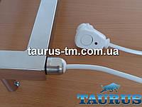 Мощный нержавеющий ТЭН + кнопка (Польша), автотермостат 60С для полотенцесушителей, мощность 800-1500Вт