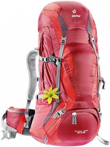 Женский рюкзак для походов в горы или треккинга FUTURA VARIO 45 + 10 SL DEUTER, 34304 5560 красный