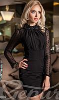 Женское короткое вечернее платье с потайной молнией на спине облегающее сетка стрейч