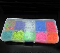 Резинки для плетения браслетов в пластиковом кейсе, 600 шт.