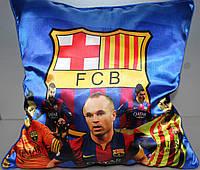 Подушка сувенирная с символикой FC Barcelona