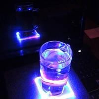 Светодиодная подставка под чашку, бокал, стакан Flash Pad