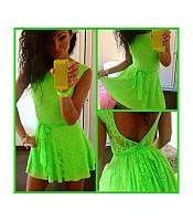 """Женское платье """"Милашка"""" - только размер 44-46 в салатовом!"""