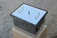 Коптильня для горячего копчения с гидрозатвором из нержавеющей стали малая 400х310х280 мм