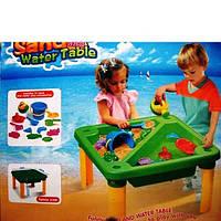 Столик для игры с песком и водой с аксессуарами
