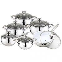 Набор посуды из нержавеющей стали 12пр 4018S Kamille