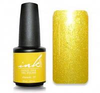 УФ/LED гель-лак Ink Gel Polish - золотисто-желтый глитер