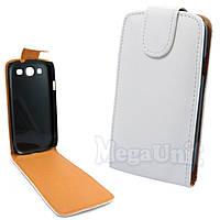 Откидной чехол-флип для Samsung Galaxy S3 (i9300) Белый