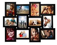 Стильные фото коллажи из дерева на 12 фото 10х15 см, 50х60см (11 вариантов расцветки - фото в описании)