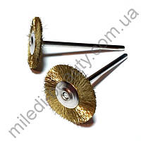 Щетка для очистки фрез механическая круглая, латунь
