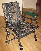 Кресло карповое камуфлированное со столиком и подставкой для удилища Elektrostatyk F5R STP