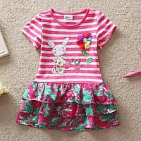 Детское летнее платье с аппликацией