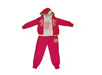 Спортивный костюм для девочки тройка (брюки, кофта, реглан) малиновый (Венгрия)
