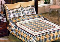 Комплект Атласного постельного белья Burberry с простынью на резинке