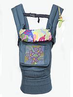 """Эргономичный рюкзак-переноска для детей """"Цветочная геометрия"""""""