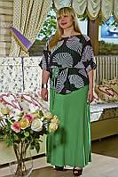 Блуза выполнена из легкой качественной шифоновой ткани.
