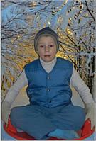 Детский жилет для мальчика пух 122 см
