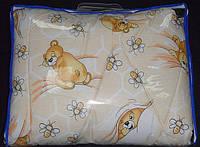 Одеяло детское зимнее 105х140 чистая шерсть