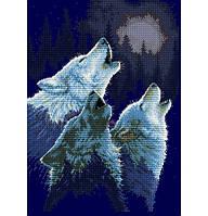 Набор для вышивания крестиком Волк. Размер: 22*31 см
