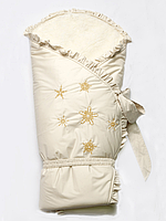 """Конверт-одеяло зимний на меху """"Сказка"""" бежевый"""