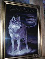 Набор для вышивания крестиком Волк. Размер: 21,6*31,8 см