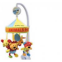 Зоопарк Музыкальный мобиль с куполом, карусель для детской кроватки