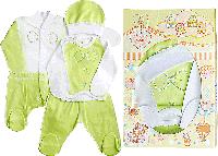 """Подарочный комплект для новорождённых """"Джентельмен"""" (салатовый), из 4-х предметов 56,62"""