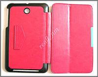 Розовый кожаный Premium smart cover чехол-книжка для планшета Asus Memo Pad 7 Me176C Me176CX K013