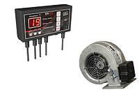 Комплект автоматики для твердотопливных котлов mplusm ST-22 + вентилятор WPA117
