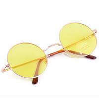 Модные женские мужские унисекс солнцезащитные круглые Очки в стиле ретро винтаж сонцезахисні окуляри