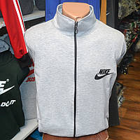 Мужская фирменная кофта на замке Nike (серая)
