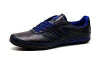 Кроссовки мужские Adidas Porsche Design кожаные, черные/ синие, фото 1