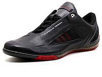 Кроссовки мужские Adidas Porsche Design Р 5000 drive athletic II, кожаные, черные/ красные, фото 1
