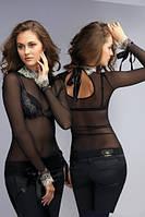 Джемпер женский сетка с вышивкой Anabel Arto