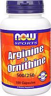 Аминокислоты Arginine & Ornithine (100 caps)