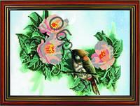 """Схема для вышивки бисером """"Цветы с птицей"""""""